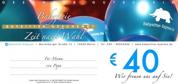 40 EUR Wert-Gutschein